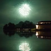 Fireworks over Cornell Boat House IMG_6439